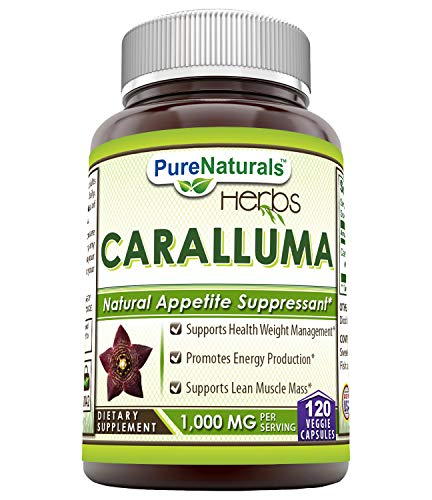 Pure Naturals Caralluma 1000 Mg per Serving 120 Veggie Capsules- Supports Healthy Weight Management*, Promotes Energy Production*, Supports Lean Muscle Mass*