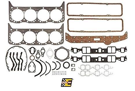 Engine Pro Chevy Sbc Overhaul Gasket Set Kit 265 283 302 307 327 350 5 7l 2 Piece Rear Seal