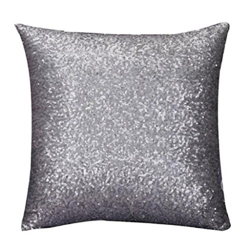 Casual Living Bedding (Clearance!Pillow case,Canserin Glitter Sequins Pillow Case Sofa Bed Home Decoration Festival Solid Color Cushion Pillow Cover (45cm45cm,)