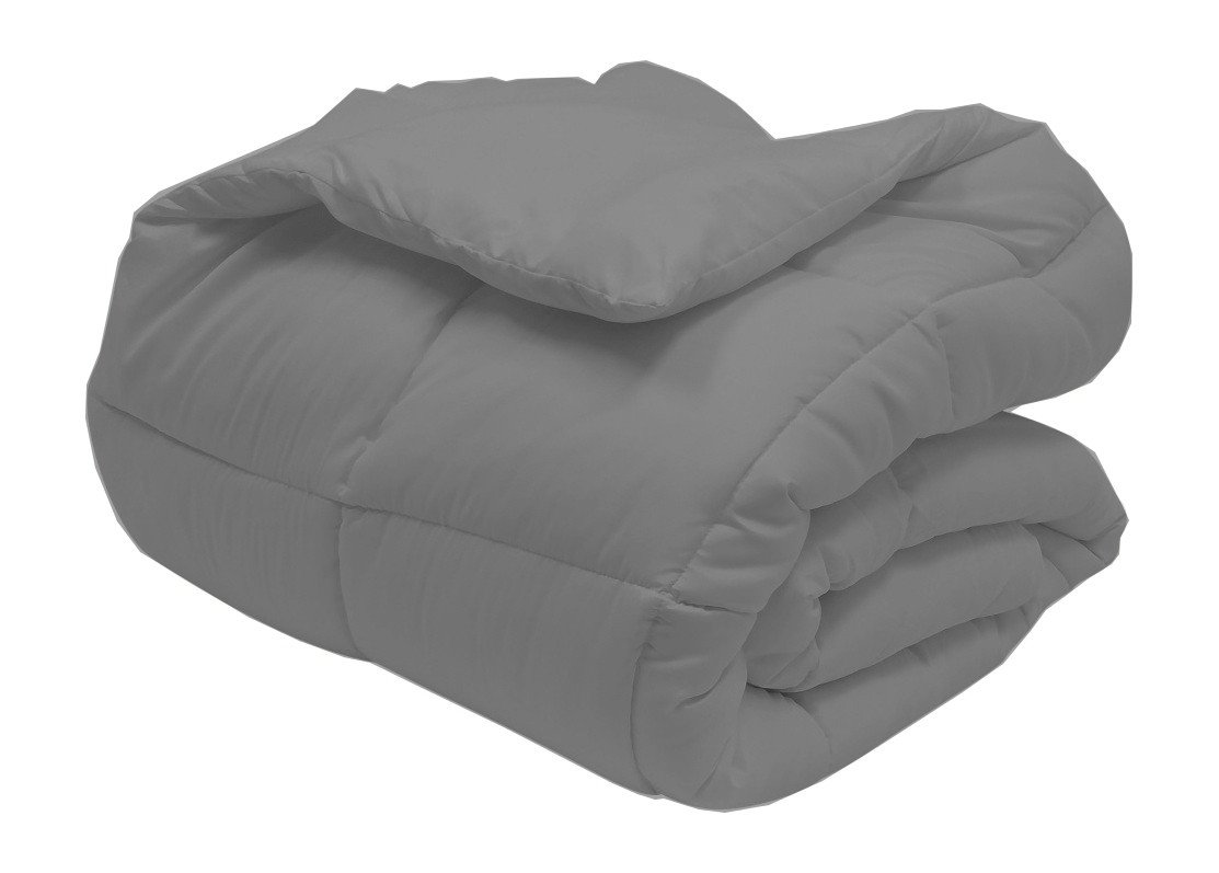 Super Oversized - Down Alternative Comforter - Fits Pillow Top Beds - Queen 92'' x 96'' - Gray - Exclusively by BlowOut Bedding RN #142035 by Web Linens Inc (Image #2)