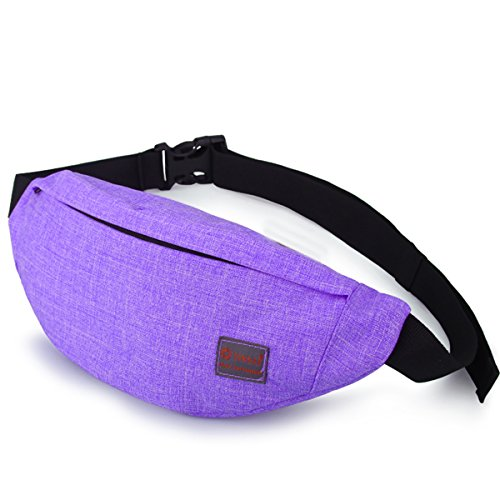 Tinyat Travel Fanny Bag Waist Pack Sling Pocket Super Lightweight For Travel Cashier's box, Tool Kit T201, Blueviolet