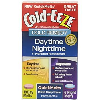 Amazon Com Cold Eeze Daytime Nighttime Quickmelt Tablets Mixed