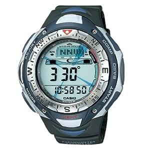 CASIO SPF-40-1VER - Reloj de caballero de cuarzo, correa de resina color negro (con alarma, cronómetro, luz, brújula y gps)