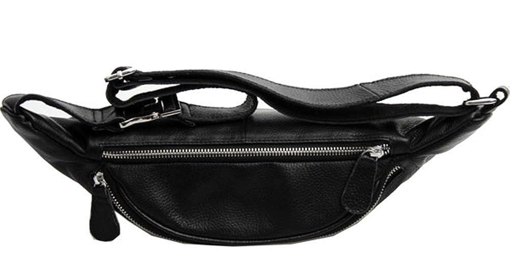 Genda 2Archer Simple Small Genuine Leather Waist Bag Fanny Pack Organizer Hip Purse