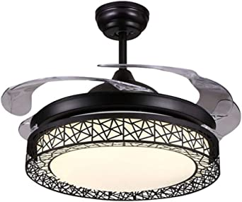 Ventilador de techo con 4 aspas invisibles LED regulables de 42 ...