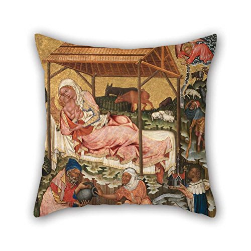 beeyoo Oil Painting Master of The Vy???? Brod Altarpiece - Nativity Throw Cushion Covers 18 X 18 Inches / 45 by 45 cm Best Choice for Lounge Teens Girls Divan - Nativity Needlepoint