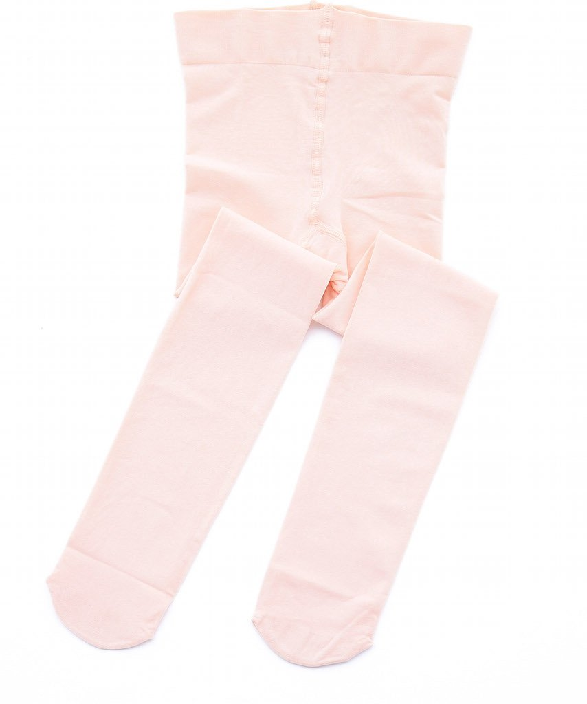 STELLE Girls' Ultra Soft Pro Dance Tight/Ballet Footed Tight (Toddler/Little Kid/Big Kid)(M, Ballet Pink)