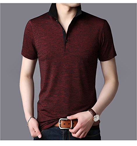 Kiden メンズ ポロシャツ 半袖 無地 高品質 ファッション スポーツ カジュアル かっこいい シンプル 通気性 薄手 吸汗速乾 夏
