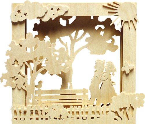 Unbekannt Holz Bastelset 3 D Fensterbild Bilderrahmen Sommer