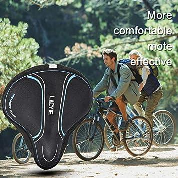 Lacyie Funda Asiento Bicicleta, Cubierta de Asiento Bicicleta Gel ...