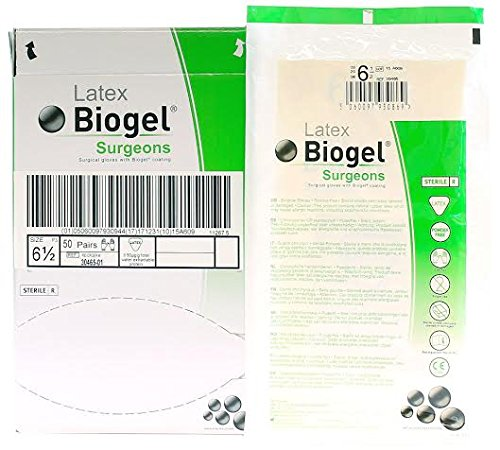 Biogel Surgeons Gloves - Latex Powder Free - Sterile - 6.5 (50 Pairs) by Molnlycke Health Care Us LLC (Image #1)