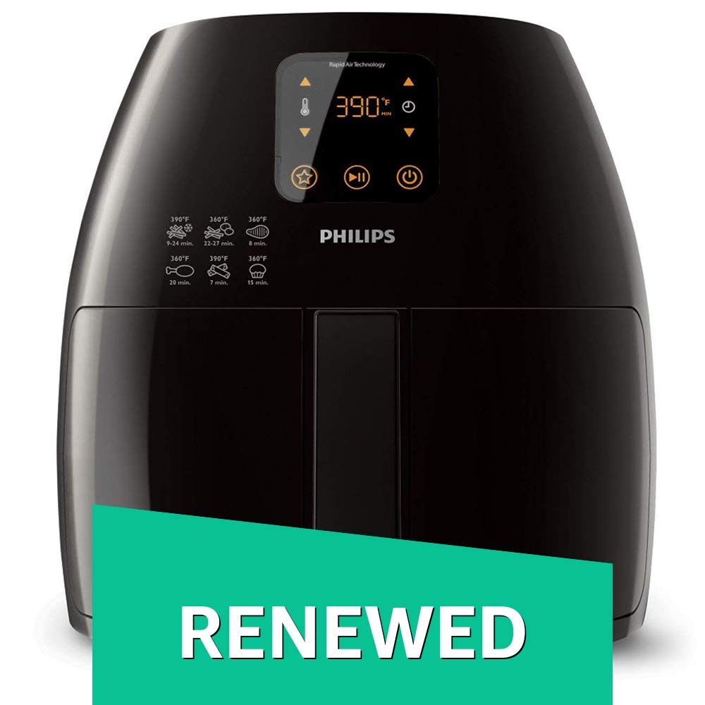 Philips HD9240/94 Avance XL Digital Airfryer (2.65lb/3.5qt), Black Fryer (Renewed) by Philips (Image #1)