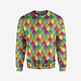 iPrint Mens Peach Pullover Sweater