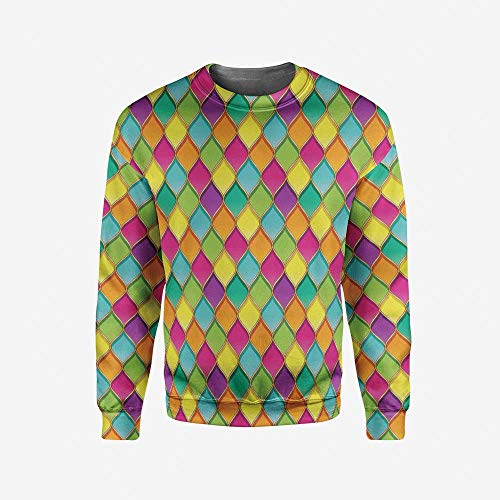 iPrint Mens Peach Pullover Sweater by iPrint
