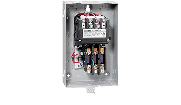 110-120//220-240 at 60Hz Coil Voltage Siemens 14DP82WA81 Heavy Duty Motor Starter Manual//Auto Reset 3 Phase 27A Contactor Amp Rating NEMA 4//4X Stainless Watertight Extra Wide Enclosure 3 Pole Ambient Compensated Bimetal Overload 1 NEMA Size