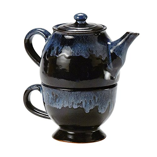 Teapot And Cup 'Tea For One Teapot Set' (One Stacking Teapot Set)