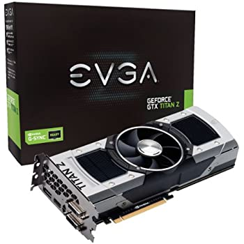 EVGA GeForce GTX TITAN Z 12GB GDDR5 768 Bit GPU Graphics Card (12G-P4-3990-KR)