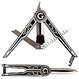 (Set/2) Unique Square/Compass Shaped Freemason Masonic Folding Pocket Knife