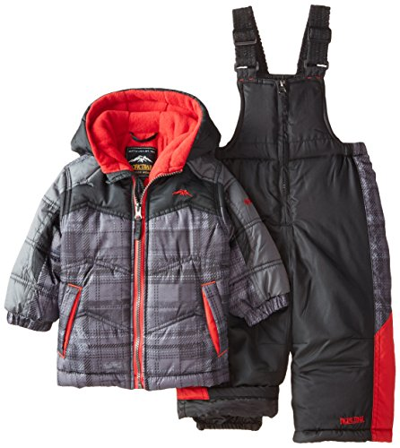 Pacific Trail Baby Boys' Color Blocked Plaid 2 Piece Snow...