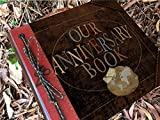Our Anniversary 12x12 Leather Adventure Book Personalized Foil Imprinted Spine