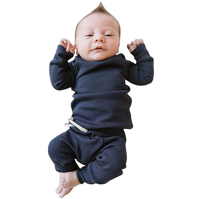 MAYOGO Ropa para bebés Conjunto, Tops Camiseta Manga Largo + ...