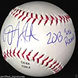 DJ PETERSON SIGNED BASEBALL 2013 1ST RD PICK INSCR SEATTLE MARINERS USA PROOF J1