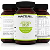 Dr. Dave's Best Monster Multi Vitamin With Minerals 180 | Pharmaceutical Grade Dietary Supplement | Perfect for Men Women Children and Adults | Daily Dose for Optimal Health