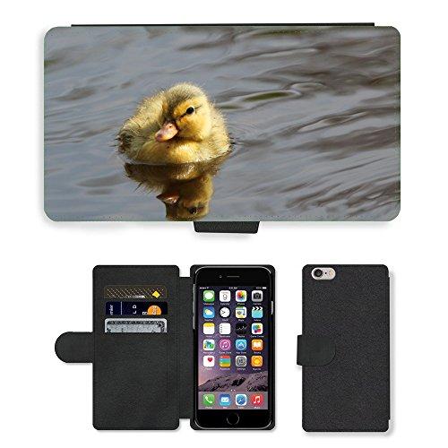 """Just Phone Cases PU Leather Flip Custodia Protettiva Case Cover per // M00128007 Adorable bébé animal bec mignon // Apple iPhone 6 PLUS 5.5"""""""