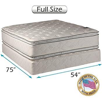 princess dream plush pillow top full size mattress and box spring set kitchen dining. Black Bedroom Furniture Sets. Home Design Ideas