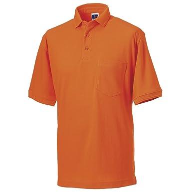 Russell Athletic - Polo - para Hombre Naranja Naranja X-Small ...
