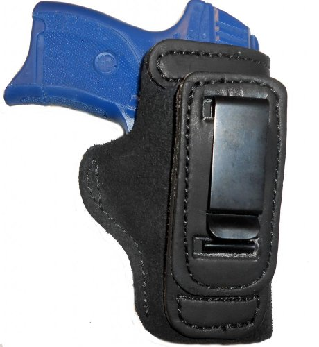 S&W 340PD Leather Gun Holster Pro Carry Shirt Tuck Right Hand IWB Black