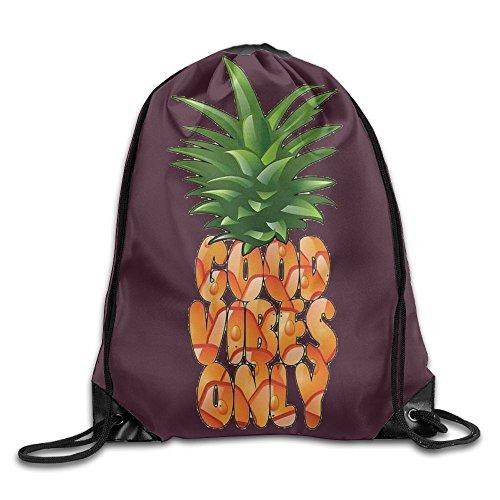Pineapple Good Vibes Fashion Beam Mouth Backpack&drawstring Double Shoulder Bag (Double Buggy Vibe)