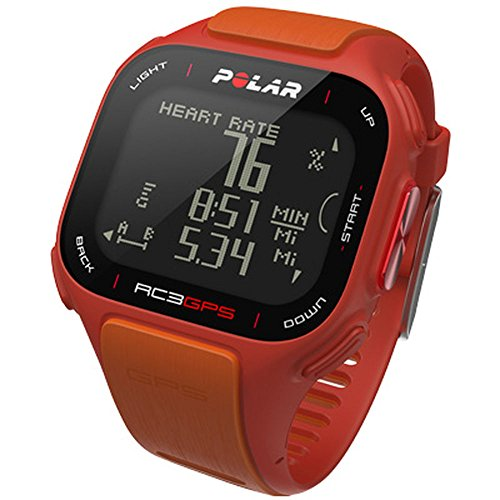 POLAR RC3 Heart Rate Monitor, Red/Orange Various (Polar Red Heart Rate Monitor)