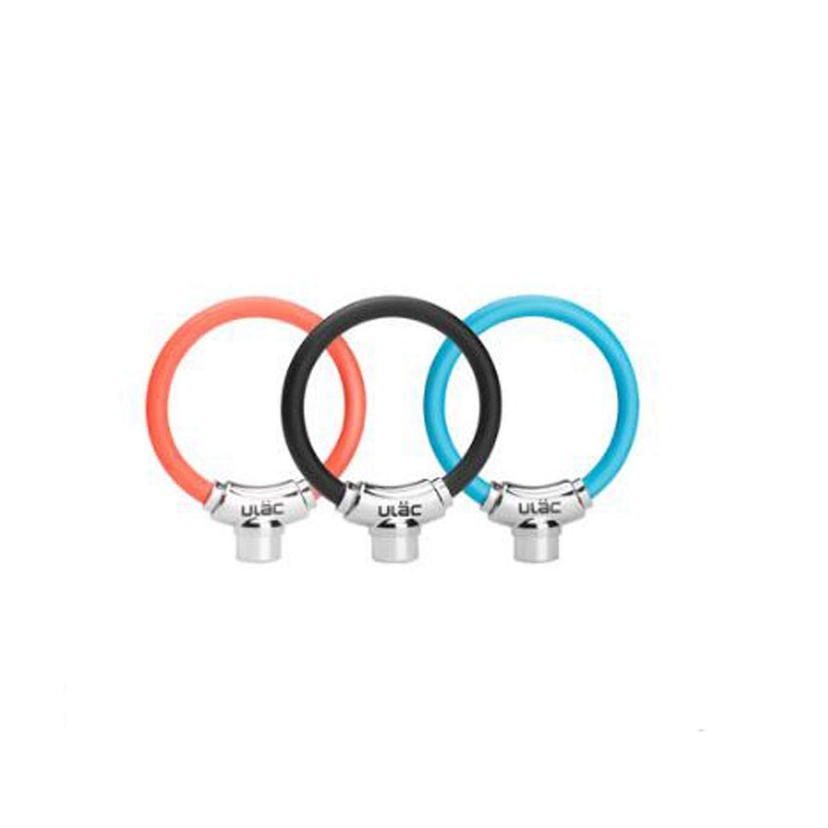 8haowenju Bicycle Cable Lock, Blade Lock Cylinder, Large Locking Space, Safety Bicycle Lock, Size: 3.63.65.2 Inches, Color: Black, Blue, Orange (Color : Black)