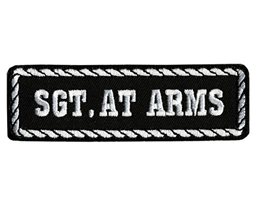 Patch Stemma Stato SGT AT ARMS Moto Club Custom AMT CUSTOM 37/PPD1005