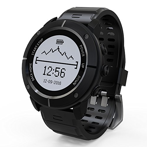 Lixada Outdoor Smart Sport GPS Watch Waterproof Adventurer Watch for Men and Women Running Swimming Hiking Cycling Triathlon with Heart Rate Monitor Compass Altimeter Barometer by Lixada