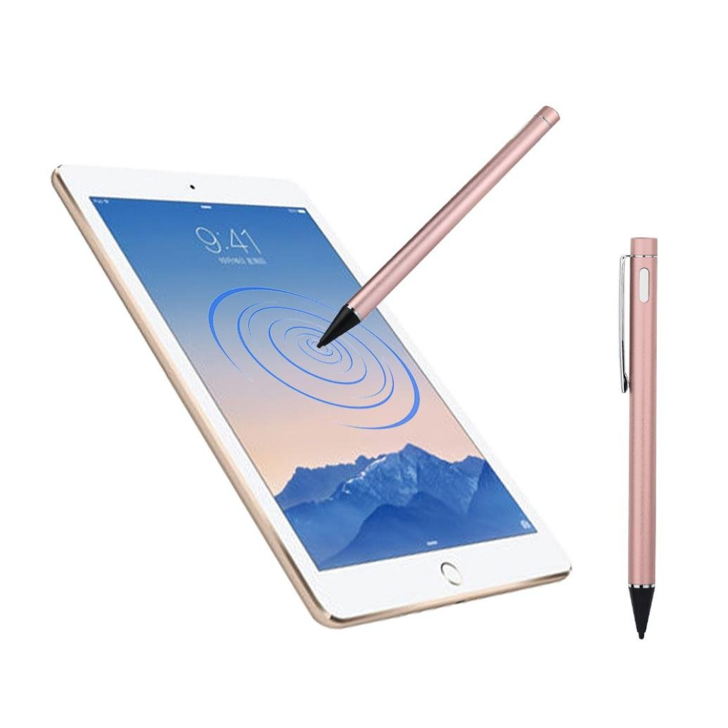 Screen Touch Pen , Nacome Stylus With USB Charging Wire For Apple iPad 2 3 4 mini Pro & Air (Pink)