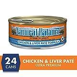 Natural Balance Chicken & Liver Paté Formula Wet Cat Food, 5.5-Ounce Can (Pack Of 24)
