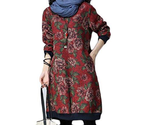 Loose Dress Pattern4 Pullover Oversized Velvet Midi Tribal Print Women Coolred 8wYz1qtt