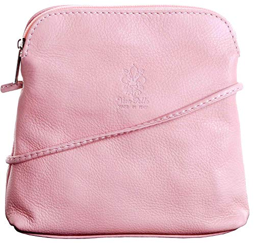 Navy Handbag Pink Baby Cross Leather Soft Shoulder Body Italian Bag Real a7qAwBP
