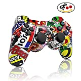 PS3 controller Wireless Bluetooth Double Shock Sixaxis Remote Gamepad for Sony PS3 PlayStation 3-Street Graffiti Christmas Gift from dainslef