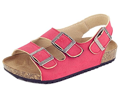 Price comparison product image Majony Durable fashion Boy's Girl's Velcro Strap Casual Gladiator Sandals (Toddler/Little Kid/Big Kid) Red US Size 10 M Toddler