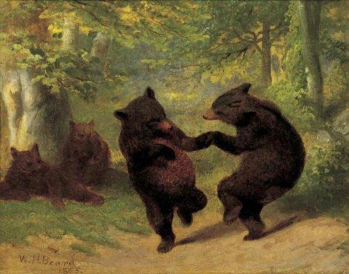 Dancing Art Poster - Dancing Bears by William H. Beard Fine Art Print Poster 11x14