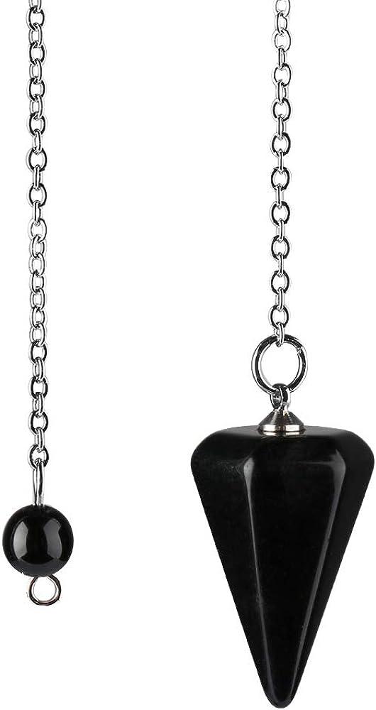 Natural Amulet Piedra de curación de Cristal Colgante de meditación hexagonales péndulos para Mujeres de los Hombres de la joyería tamaño pequeño