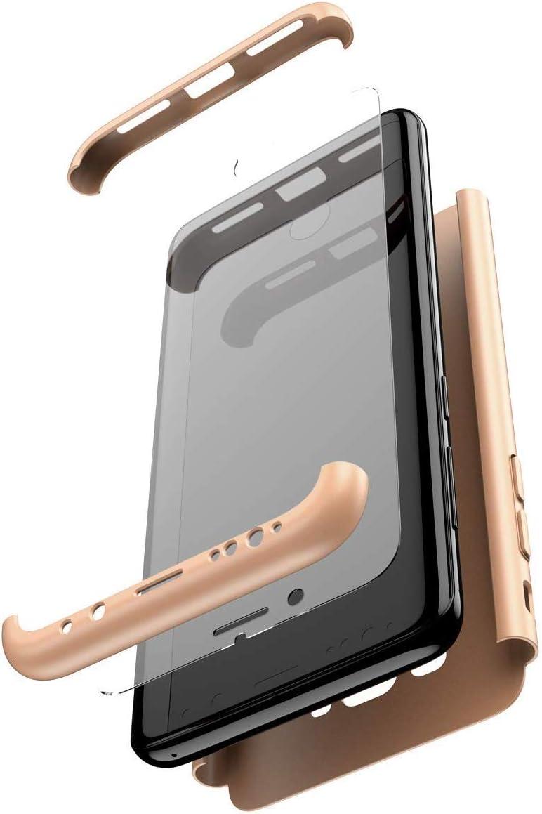 QPOLLY Kompatibel mit Xiaomi Mi 9T//9T Pro H/ülle PC Hardcase mit Panzerglas Hart SchutzH/ülle 360 Grad kompletter Schutz Kratzfest Bumper Handyh/ülle Tasche Cover f/ür Xiaomi Mi 9T//9T Pro,Silber+schwarz