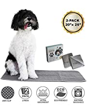 Trendy Den Creations Puppy Pads Washable Pee Pads for Dogs - Reusable Puppy Training Pads - Dog Crate Pads - Dog Kennel Pads 51X66cm 2 Pack Washable Dog Training Pads - Pet Whelping Pads - Pee Pads for Cats