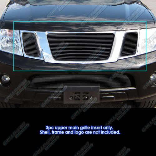 APS Compatible with 2008-2012 Nissan Pathfinder Black Billet Grille Grill Insert N66523H