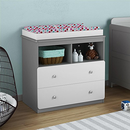 Ameriwood Home Willow Lake Changing Table, Gray