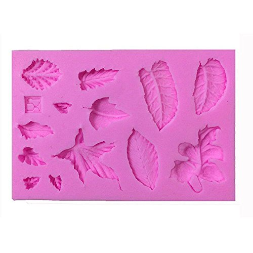EORTA 3D Silicone Fondant Mould Baking Sugarcraft Candy Cake Decorating Mold Different Leaves Pattern for Birthday Christmas Party Kids DIY Cake Cookie Decoration