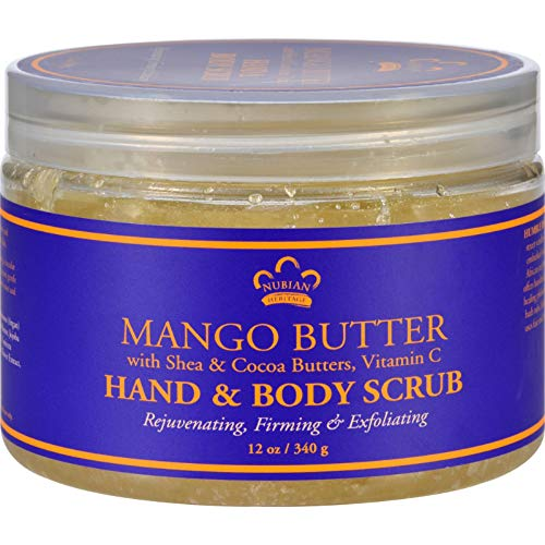 - Nubian Heritage Hand and Body Scrub, Mango Butter, 12 Ounce
